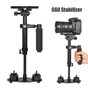 Image 5 - S60 mini estabilizador de mão, para câmera de vídeo, anti balanço, steady, para dslr, acessórios para câmera de fotografia, estabilizadores, adereço de câmera