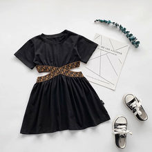 Fashion Girl Casual Dress Kid Clothing Birthday Performance Princess Children Spring Outfit for 1-7Ys Baby Toddler