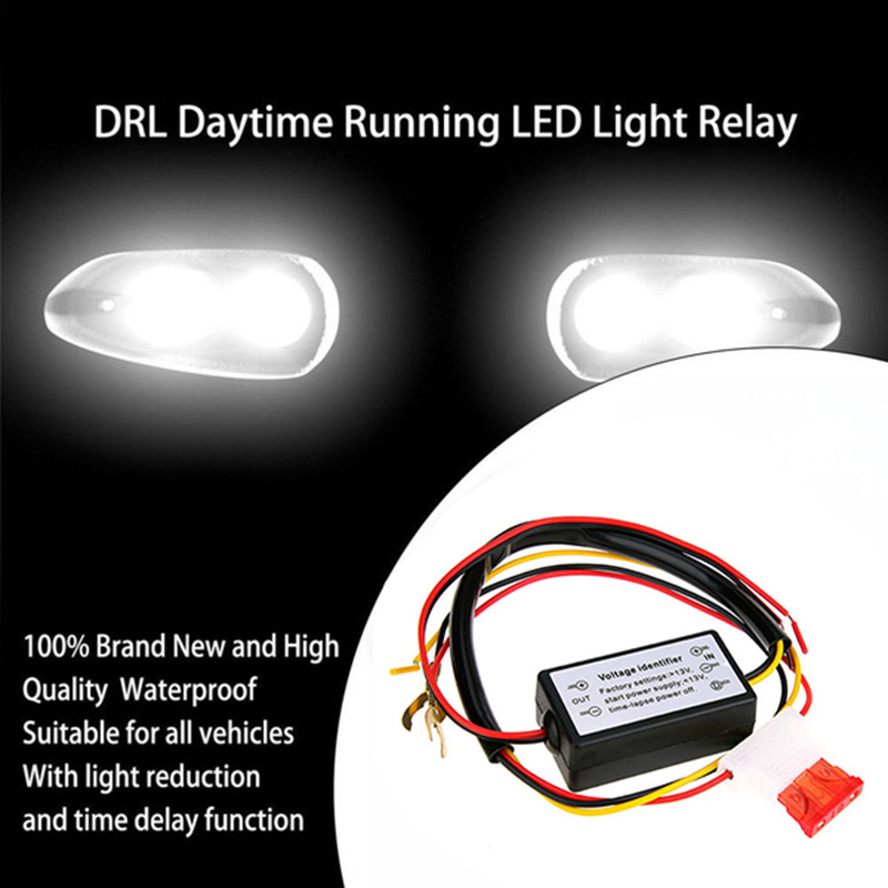 Auto CAR LED DAYTIME RUNNING LIGHT RELAY HARNESS DRL CONTROL DIMMER ON//OFF 12V