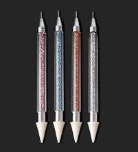 Strass pegar lápis unha arte decoração ferramentas picking cera lápis jewel picker acrílico prego pedras picker