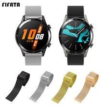 FIFATA Milanese Metall Strap Für Huawei Uhr GT 2 Armband Für Xiaomi Amazfit GTS BIP GTR Uhrenarmbänder Für Huawei GT handgelenk Gurt