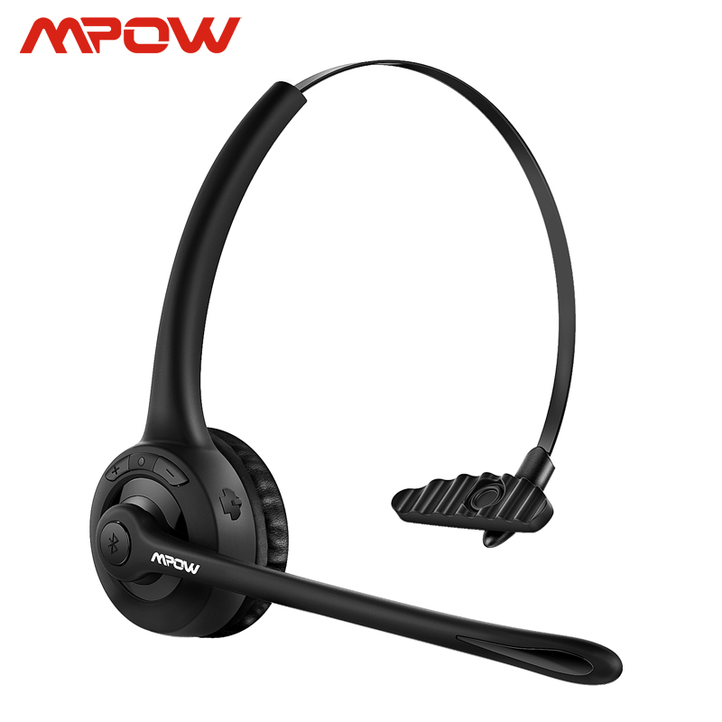 Mpow Pro Headphone Updated MBH15 Over Head Wireless Bluetooth Headset With Mic For Trucker Driver Call Center Office Cell Phone