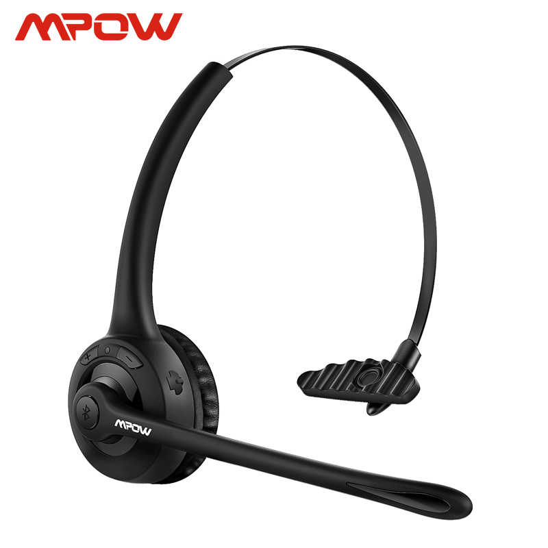 Mpow Pro Headphone Updated Mbh15 Over Head Wireless Bluetooth Headset With Mic For Trucker Driver Call Center Office Cell Phone Aliexpress