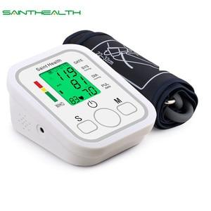 Image 1 - Saint Health Met Engels Voice & Backlight Draagbare LCD digitale Bovenarm Bloeddrukmeter Kleur screen Automatische Tonometer Pulsemeter