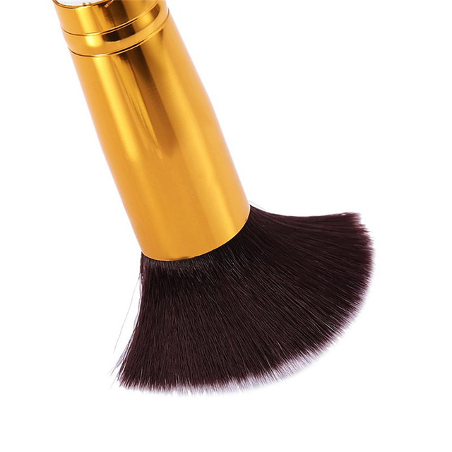 2019 New Arrive 10 Pcs Makeup Brush Set Soft Synthetic Hair Cosmetics Foundation Powder Blending Blush Lady Beauty Makeup Tools 2