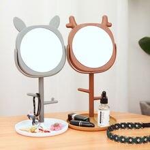 Настольное зеркало для принцессы с отделением хранения портативные