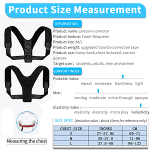 Image 5 - VIP DropShipping Medical Clavicle Posture Corrector Adult Children Back Support Belt Corset Orthopedic Brace Shoulder Correct