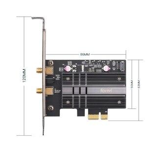 Image 2 - Masaüstü 2400Mbps PCI E Dual Band WiFi kablosuz adaptör Bluetooth 5.0 Wi Fi 6 kart AX200NGW/802 11AC/AX manyetik antenler
