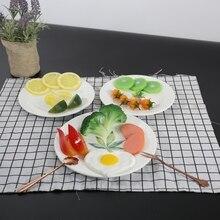 цены Round Breakfast Plate Melamine Tableware Western Dish Nordic Style Home Disc Dinner Plate Ceramic Dis