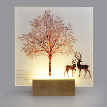 Artpad Romantic Round Square Wall Lamp with Creative Picture Mounted Light for Bedside Bedroom Stair Corridor Porch Home