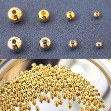 4g с золотым напылением Малый бусы Diy Изготовление сережек поставки ювелирных изделий Компоненты аксессуары