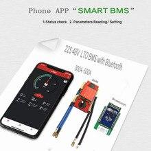بطارية ليثيوم titanate BMS 22 S 48 فولت 300A400A تطبيق هاتف بلوتوث RS485 يمكن UART لبطارية LTO 2.3V2.4V متصلة في 22 سلسلة