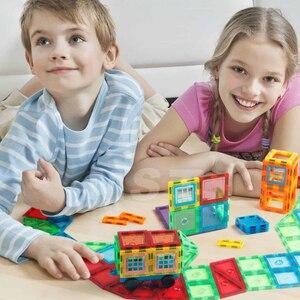 Image 3 - 98PCS Trasparente Magneti Blocchi set di Blocco Costruzione Piastrelle 3D Magnetico Blocchi Bambini Costruttore Playboards Bambino Gioco Creatività Giocattoli