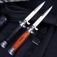 Bolso de titânio 9 polegada tático lâmina dobrável faca bolso faca 440 lâmina aço sobrevivência faca de bolso facas de acampamento ferramenta edc