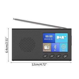 Image 3 - Dab receptor portátil rádio fm bluetooth 4.2 leitor de música 3.5mm saída estéreo