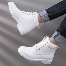 Winter boots women shoes 2019 warm fur plush sneakers women snow boots women lace-up ankle boots winter shoes woman botas mujer(China)