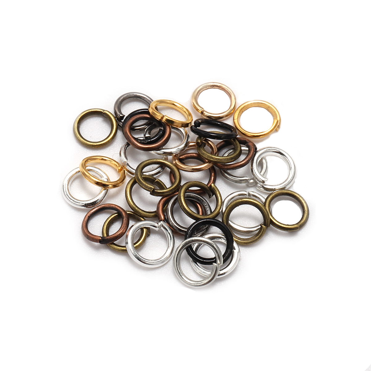 200pcs/bag 4 5 6 Mm Link Loop Wholesale Vintage Bronze Jump Rings Split Ring Connectors For Diy Jewelry Finding Making Connector