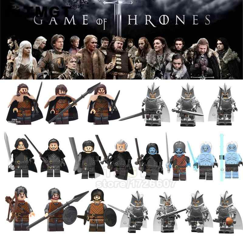 Single Blocks Game of Thrones White Walker Jon Snow Samwell Eddard Stark Archer Building Blocks Toys For Children
