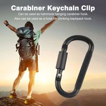 1 x Aluminum Alloy Carabiner Hiking D-Ring Keychain Clip Hook Buckle Sport(China)