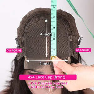 Image 5 - 13x6 תחרה מול שיער טבעי פאות ברזילאי רמי שיער Glueless קינקי מתולתל 4x4 תחרת סגירת פאה מראש קטף לנשים לופי