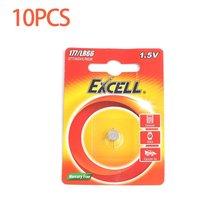 10 шт./лот Excel 1,5 V LR66/177/377/AG4 Кнопка ячейки Батарея аккумулятора кнопочного типа длинные Срок годности для часы электронные игрушки