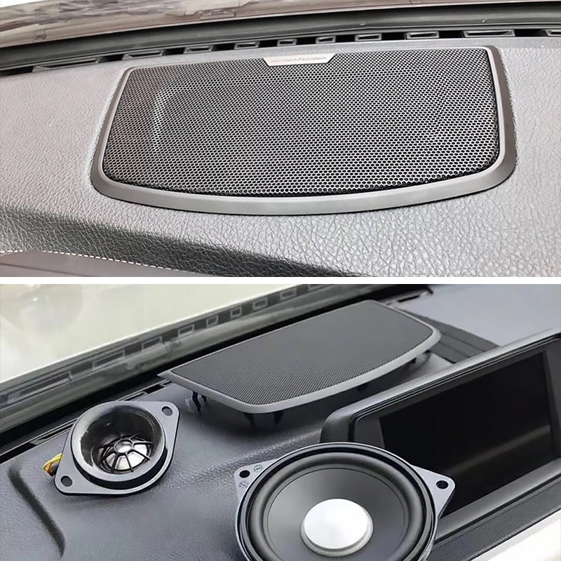Car center console speaker cover For BMW F10 F30 F32 F34 G30 series high quality audio loudspeaker decor protection build image