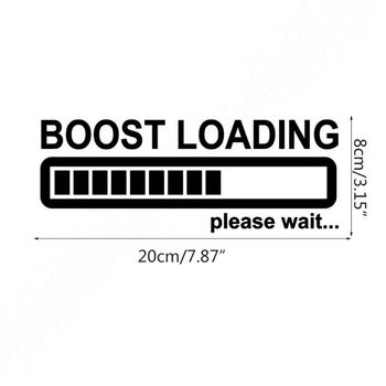 20CM*8CM Creative Boost Loading Please Wait For Turbo Funny Car Stickers Car Styling G99F image