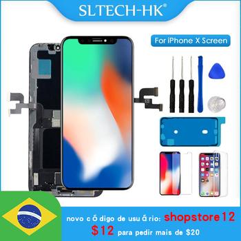 AAA + + + OLED dla iPhone X XR XS Max wymiana ekranu LCD dla iPhone 11 Pro Max wyświetlacz z 3D Touch Assembly True Tone tanie i dobre opinie SLTECH-HK NONE CN (pochodzenie) Ekran pojemnościowy 1280x720 3 AMOLED For iPhone X XR XS Max LCD i ekran dotykowy Digitizer