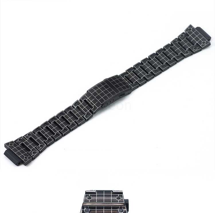 dw5600 GW-M5610 GW-5000 aço inoxidável laser-gravado pulseira