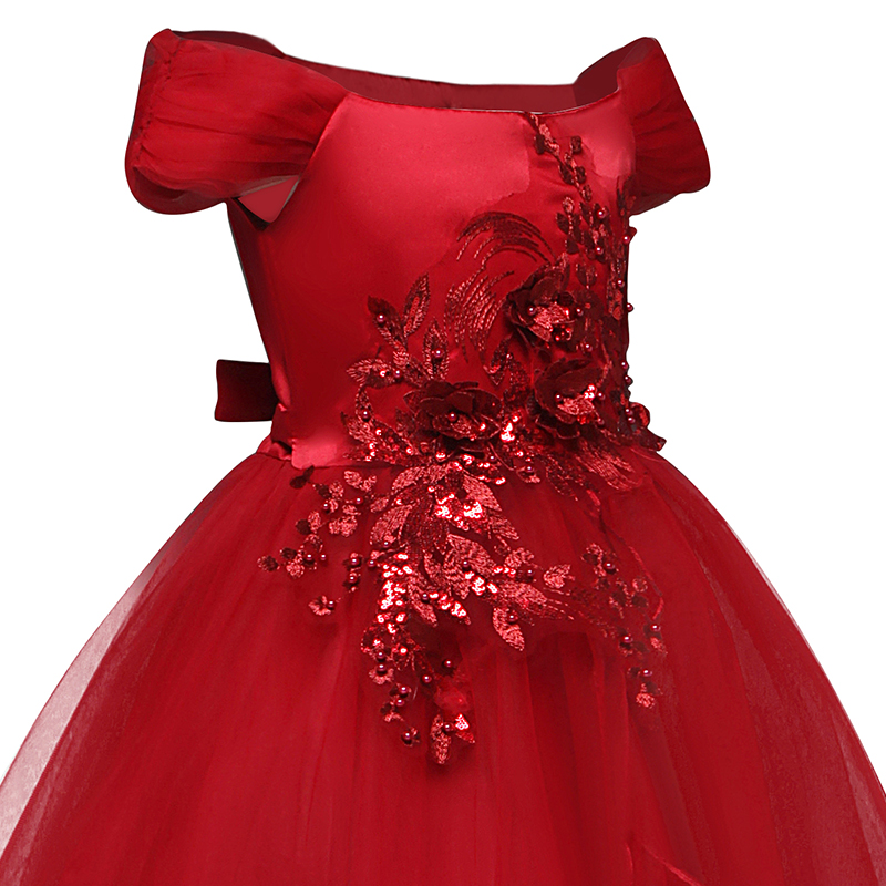 H8ec879463a4f44788812621fc55cf50ag Vintage Flower Girls Dress for Wedding Evening Children Princess Party Pageant Long Gown Kids Dresses for Girls Formal Clothes