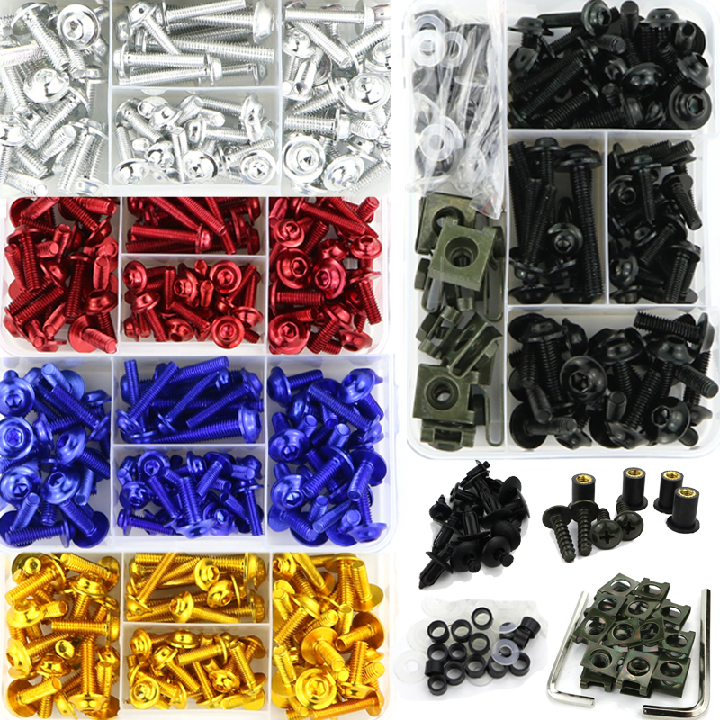 Full Fairing Bolts Kit Screws Nuts Clips Aluminum For Honda CBR125R CBR150R CBR250R CBR300R 600RR CB300R CB1000R CB1000 CB1300