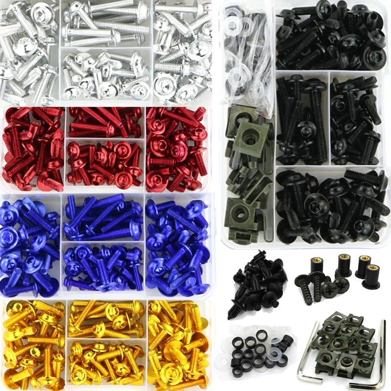 Full Fairing Bolts Kit Screws Nuts Clips Aluminum For Honda CBR125R CBR150R CBR250R CBR300R 600RR CB300R CB1000R CB1000 CB1300