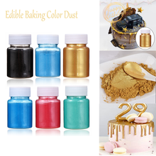 5/15g Edible Gold Powder Mousse Cake Fondant Macaron Chocolate Decoration Glitter Powder Silver Pearl Powder Baking Color Dust