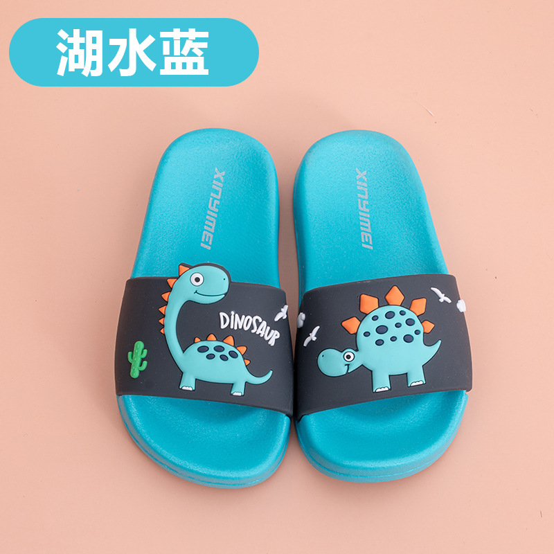 2020 Summer Children's Slippers For Boys Girls Slippers Dinosaur PVC Flip Flops Baby Non-slip Beach Sandals Kids Home Bathroom