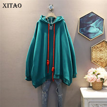 Solid Hoodie Women Clothes Patchwork Winter XITAO New-Style Fashion Casual ZY2371 Temperament