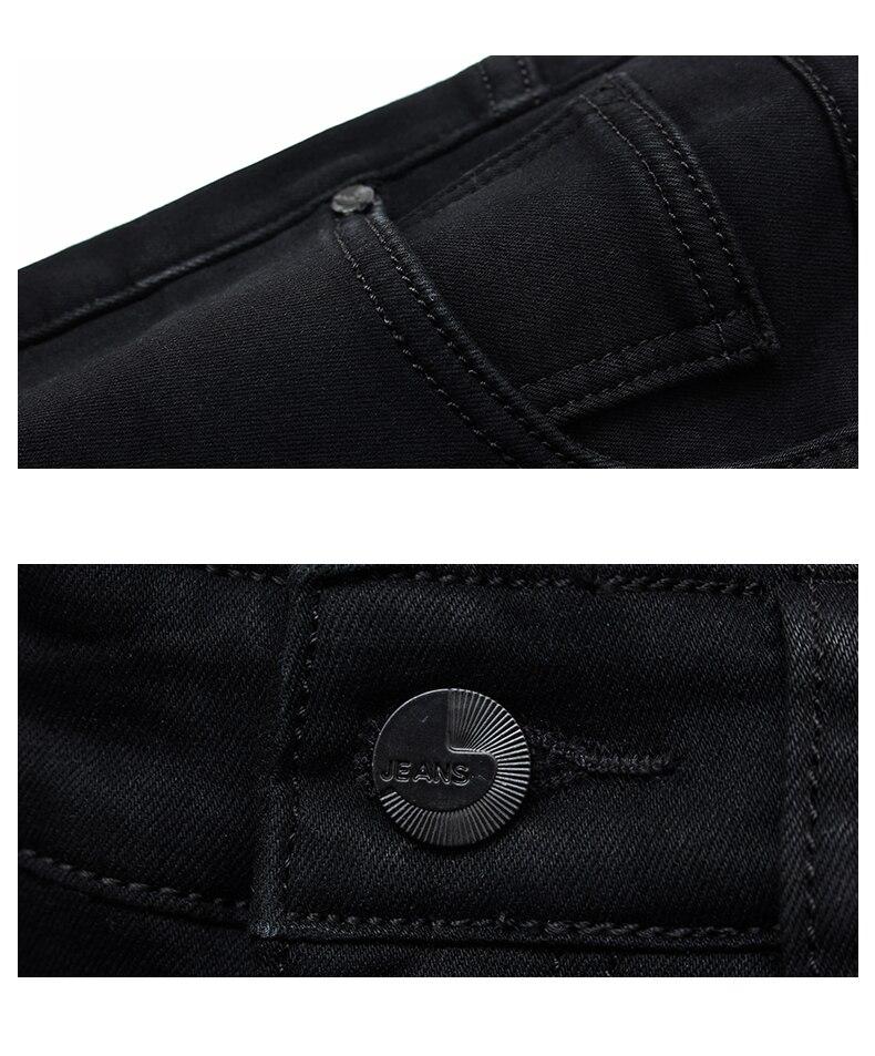 Men Classic Jeans Jean Homme Pantalones Hombre Men Mannen Soft Black Biker Masculino Denim Overalls Mens Pants