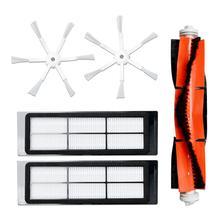 5 pçs 6 braço escova lateral hepa filtro kit escova principal para xiaomi roborock s50 s51 s55 robô aspirador de pó peças de reposição acessórios kit