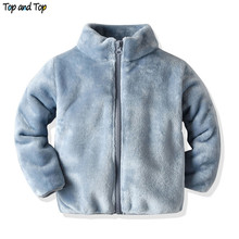 Top and Top Autumn Winter Cute Baby Kids Boys Girls Fannel J