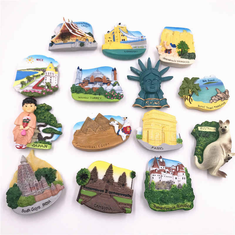 Bodh Gaya India Australian Kangaroos Romania Cambodia Nice Coast France Paris Egyptian Pyramids Japan <font><b>Istanbul</b></font> Turkey Magnets image