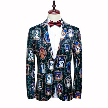Fashion Luxury Jacquard Flower Slim Masculino Prom Party Cloth 2020 Jacket Mens Stylish Blazer Plus Size 4xl