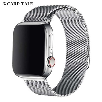 for apple watch series 4 band real carbon fiber watch straps for apple watch series 1 2 3 iwatch 38 4mm men s wrist bracelet watch strap for Apple iWatch Band Metal Magnetic Wristband 38/40mm 42/44mm wrist bands for iphone watch 1 2 3 4 5 series watches
