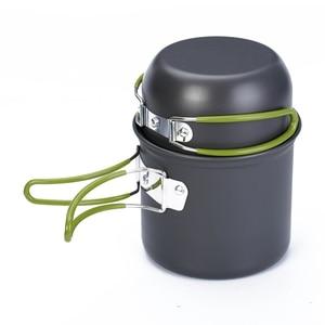 Image 2 - Кухонная посуда для кемпинга, антипригарная посуда для открытого воздуха, сковородки с сетчатым мешком, набор для пешего туризма, пикника, посуда, посуда