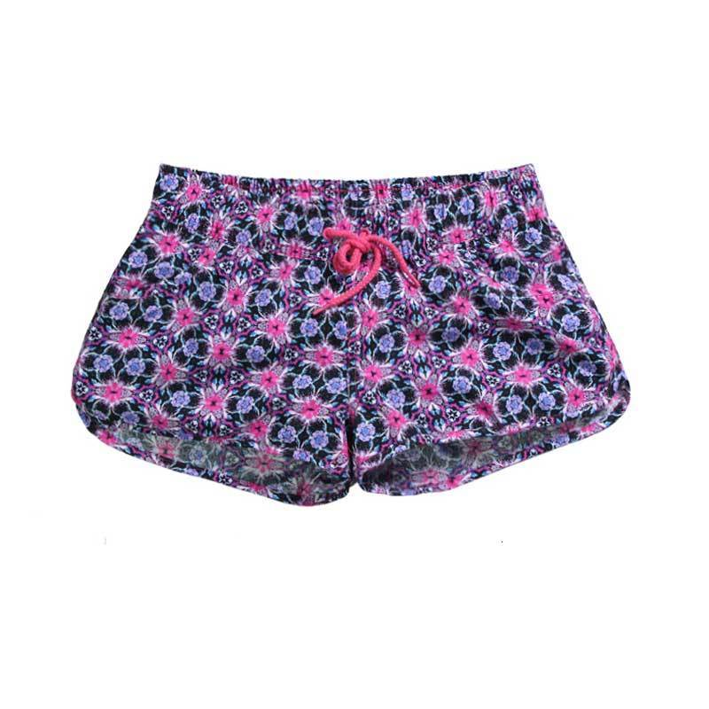 Summer Flowers Pom Pom Bal Shorts Women Beach Boxes Bohemian National Wind Prints Lost Women Short Feminino Plus Size XL