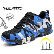 NASONBERG Air Mesh Steel Toe Work Shoes Men Women Shoes Indestructible Safety Shoes Anti Piercing Work Safety Boots Men(China)
