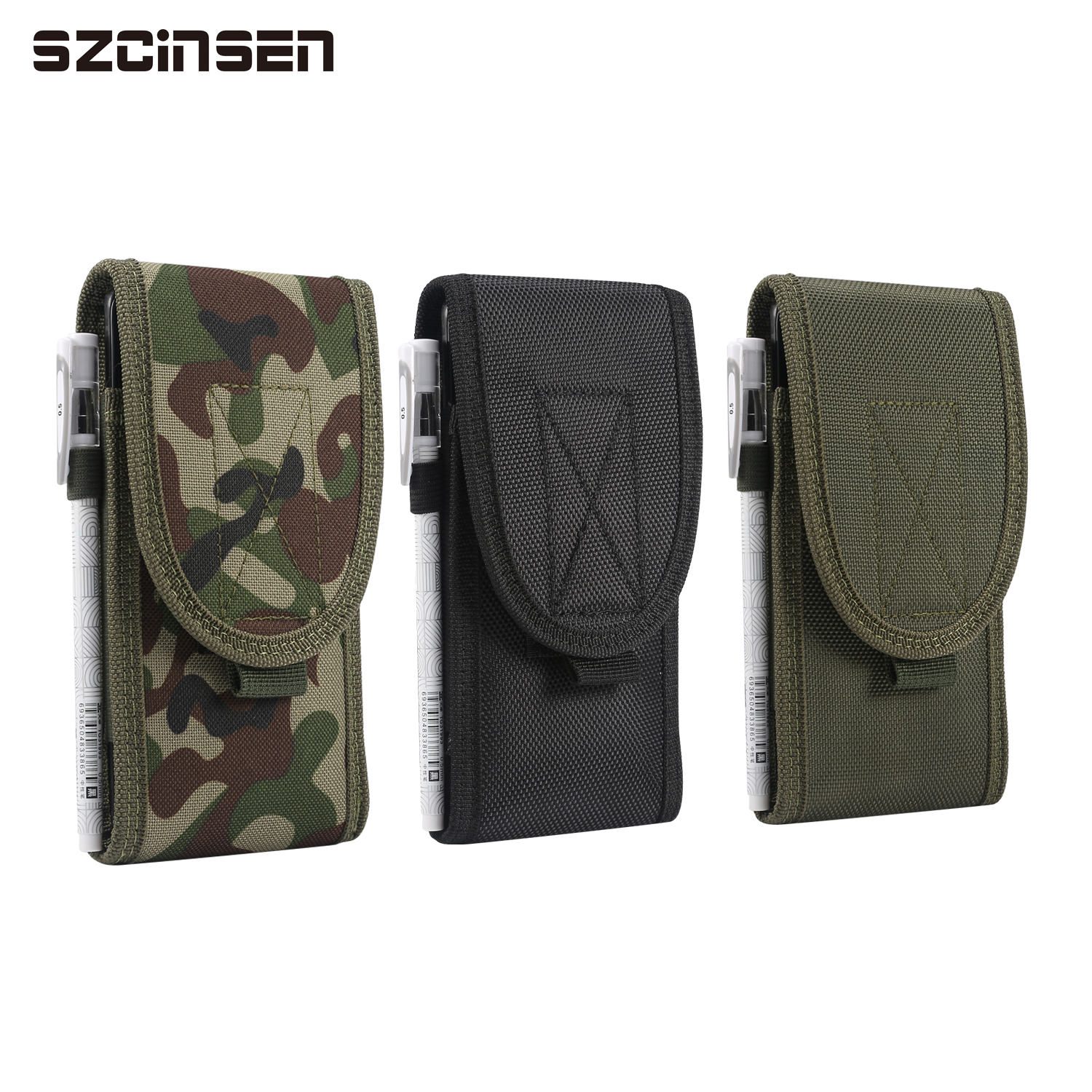 Universal 4.7-6.7 inch Tactical MOLLE Holster for <font><b>iphone</b></font> x <font><b>xr</b></font> 11 pro max Samsung Mobile Phone <font><b>Belt</b></font> Clip Pouch Holster Cover <font><b>Case</b></font> image