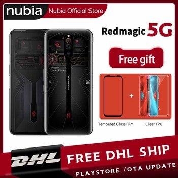 Купить Прямая поставка глобальная версия Nubia Red Magic 5G игровой мобильный телефон 6,65 дюймов 144 Гц 8 Гб 128 ГБ Snapdragon 865 Android 10 WIFI 6