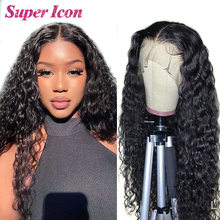 Wig Brazilian Human-Hair Lace-Front Deep-Wave Supericon Natural Front-Closure 30inch