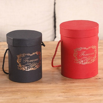 Cajas de sombrero redondo Floral cajas de papel de flores para embalaje bolsa regalo caja de almacenamiento Snacks caja de embalaje de dulces con tapa Lanyard1