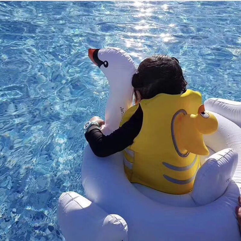 CHILDREN'S Life Jackets Profession Swimming Series Drifting Fishing Floating Vest Kids Portable Small Yellow Duck Cute
