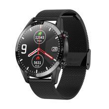 L13 ساعة Bluetooth ذكية ديل الدعوة تحكم بالموسيقى ECG اللياقة البدنية الصحة المقتفي IP68 للماء الرياضة Smartwatch لالروبوت IOS